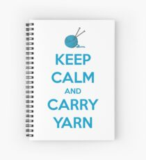 Knitting Gifts for Knitters   Keep Calm and Carry Yarn   Crochet Lovers Spiral Notebook