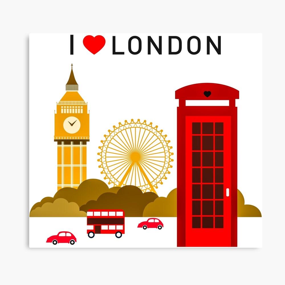 Ich liebe London Leinwanddruck