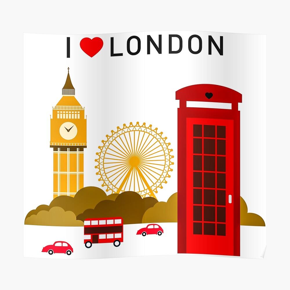 Ich liebe London Poster