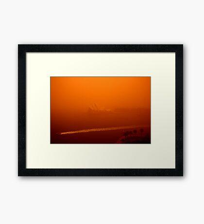 Red Sails - SYDNEY. AUSTRALIA Framed Print