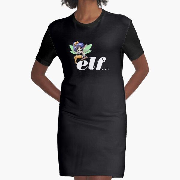 Pixel élf Co. Japan Logo Graphic T-Shirt Dress