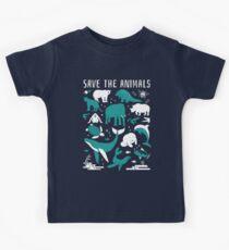 Camiseta para niños Salva a los animales - Animales en peligro de extinción