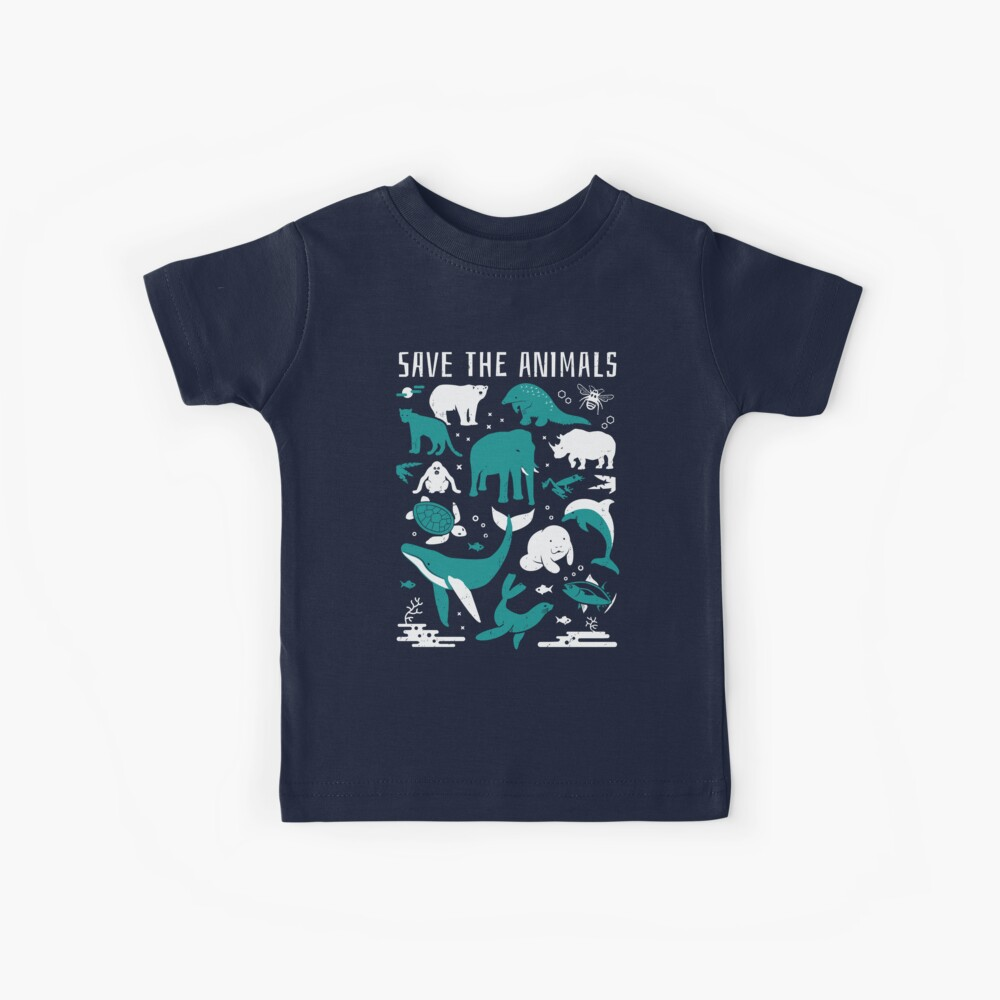 Save The Animals - Endangered Animals Kids T-Shirt
