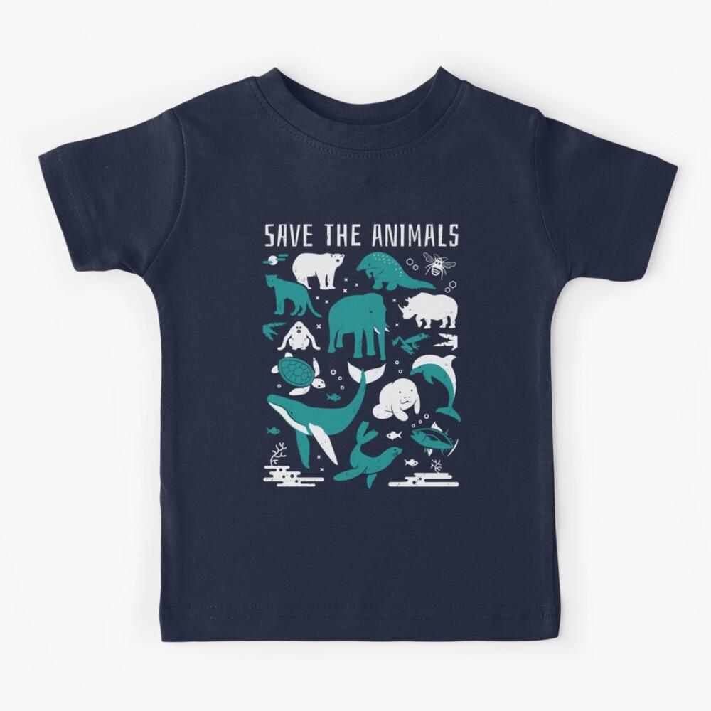 Salva a los animales - Animales en peligro de extinción Camiseta para niños
