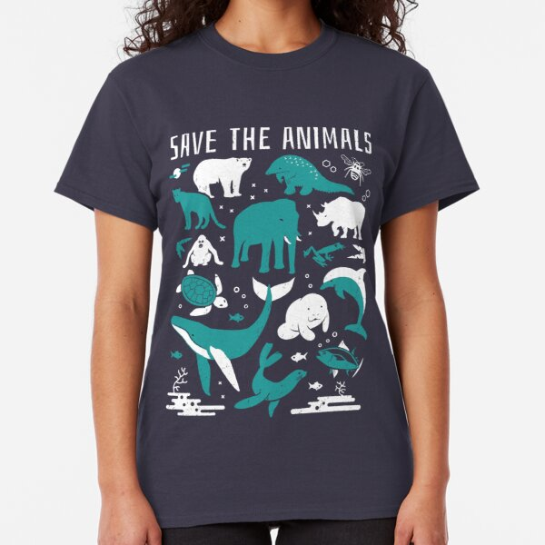 Save The Animals - Endangered Animals Classic T-Shirt
