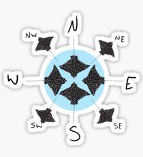 Eagle Ray Compass Sticker