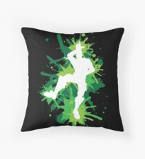 Gaming - L Dance Move - Green Throw Pillow