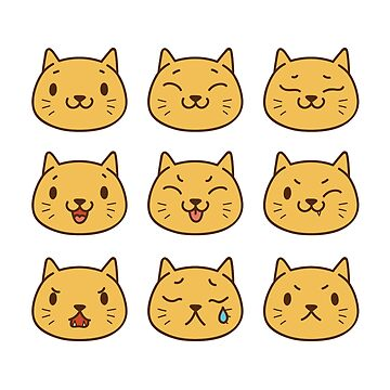 The Many Emotions of Cats by xJLe