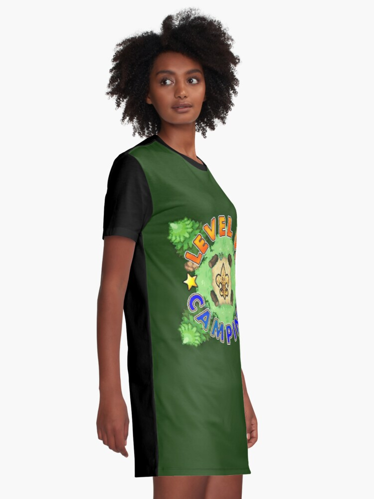 Alternate view of Level Up Camping Graphic T-Shirt Dress