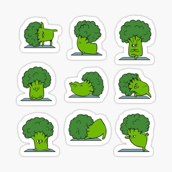 Broccoli Yoga Sticker