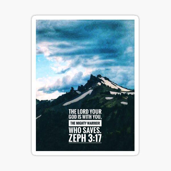 Zephaniah 3 Mighty Warrior Sticker