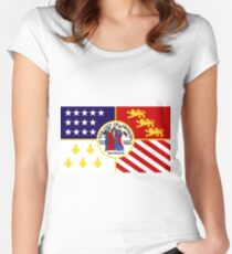 Flag of Detroit (1976–2000) | United States Women's Fitted Scoop T-Shirt
