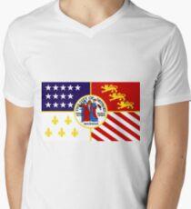Flag of Detroit (1976–2000) | United States Men's V-Neck T-Shirt
