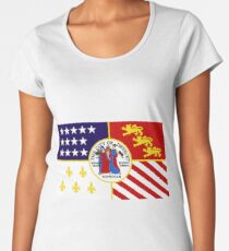 Flag of Detroit (1976–2000) | United States Women's Premium T-Shirt
