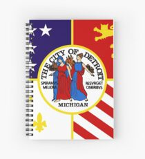 Flag of Detroit (1976–2000) | United States Spiral Notebook