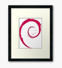Debian Red Framed Print