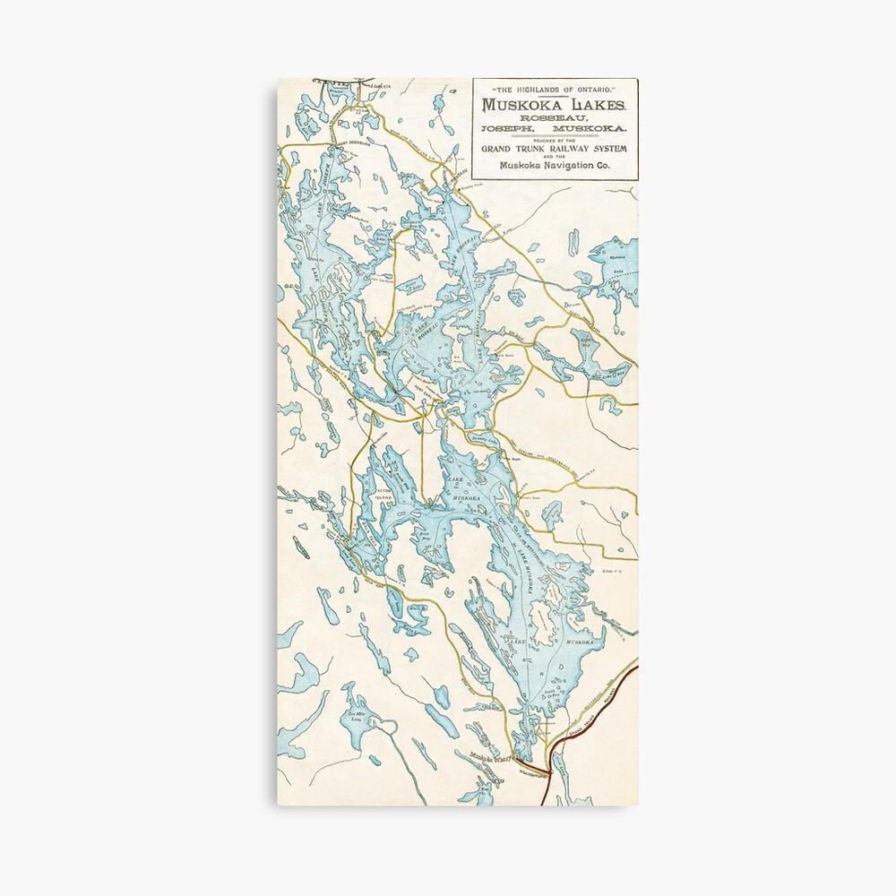 Ontario Gibson Lake 17 x 22 Paper Wall Map Muskoka