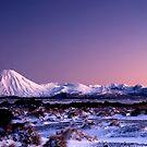 Mount Ngauruhoe at sunrise pano 1 by Paul Mercer