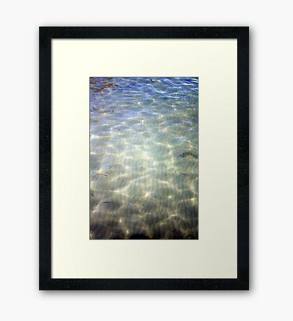Translucent Sea Framed Print