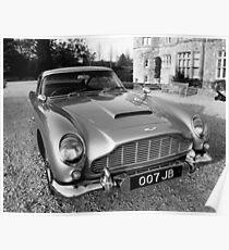 James Bond's Aston Martin, Used in Movie Poster