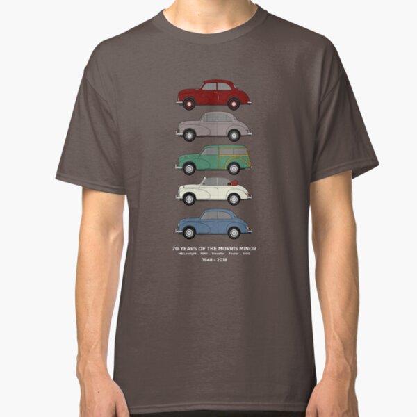 Morris Minor 70th Anniversary Classic Car Collection Artwork Classic T-Shirt