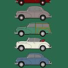 Morris Minor 70th Anniversary Classic Car Collection Artwork by RJWautographics