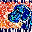Momma Of A Mountain Dog Dogs Puppies Puppy Mom Mother Mother's Day Jackie Carpenter Gift Idea Best Seller Lover Grandma Sister Gifts Rescue Adopt by jrcarmax