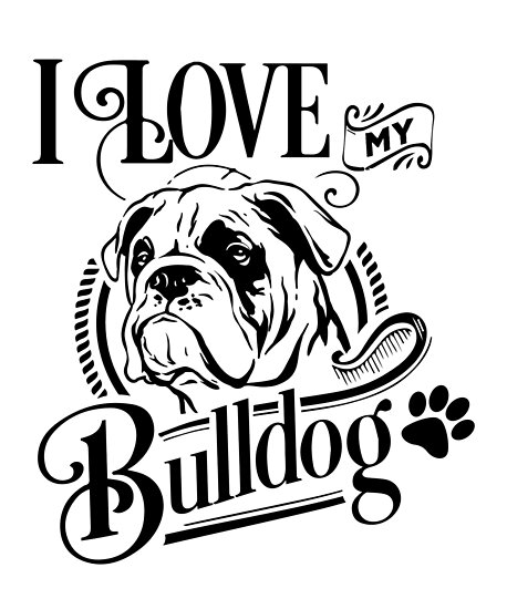Cute English Bulldog Mom Puppy Dog Mascot Bulldog Lover Posters By