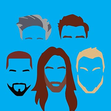 Queer Eye Faces Silhouettes by fandemonium