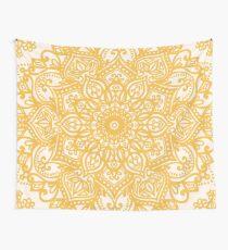 Gelbes Mandala-Muster Wandbehang