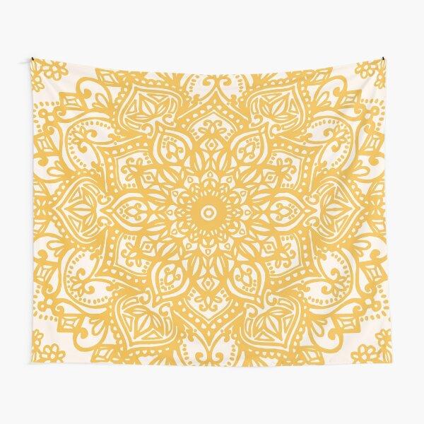 Yellow Mandala Pattern Tapestry