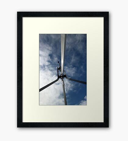 Flagpole Sitter Framed Print