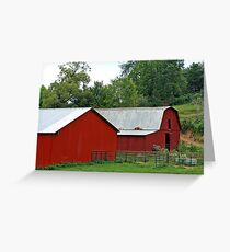 *RED COUNTRY BARNS* Greeting Card