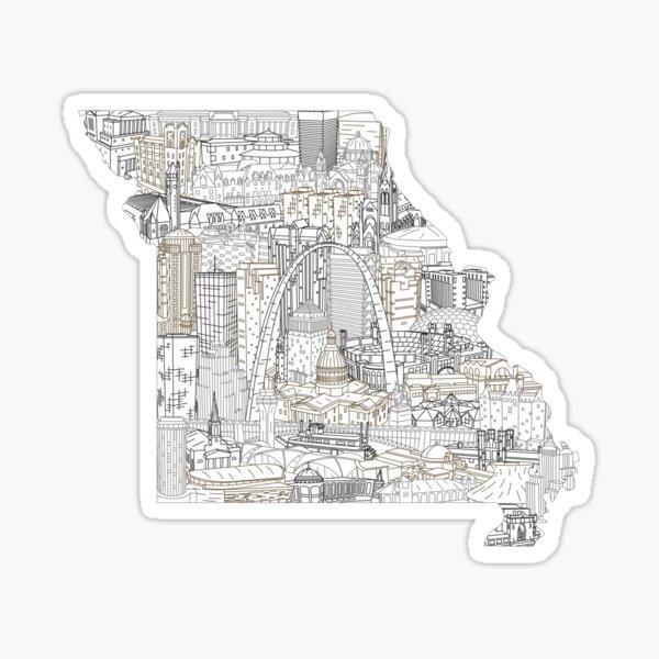 St Louis Missouri Skyline Cityscape Art Sticker