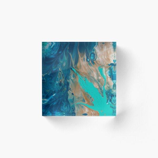 Paradise III - Abstract Design Acrylic Block