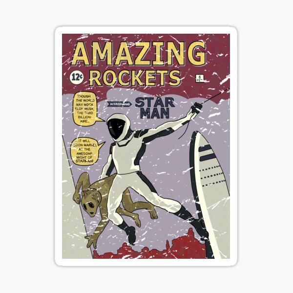 La bande dessinée Amazing Rockets Star Man de SpaceX Mars BFR Sticker
