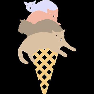 Funny Cat Ice Cream by phskulmshirt