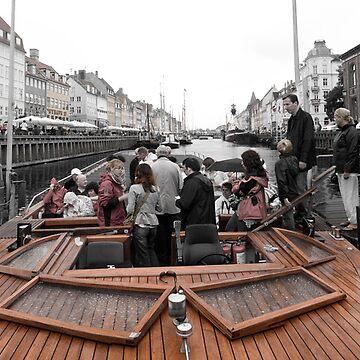 Boat on the Copenhagen Canal by lukefarrugia