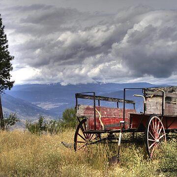 Little Red Wagon of the Wild West by PrairieRose