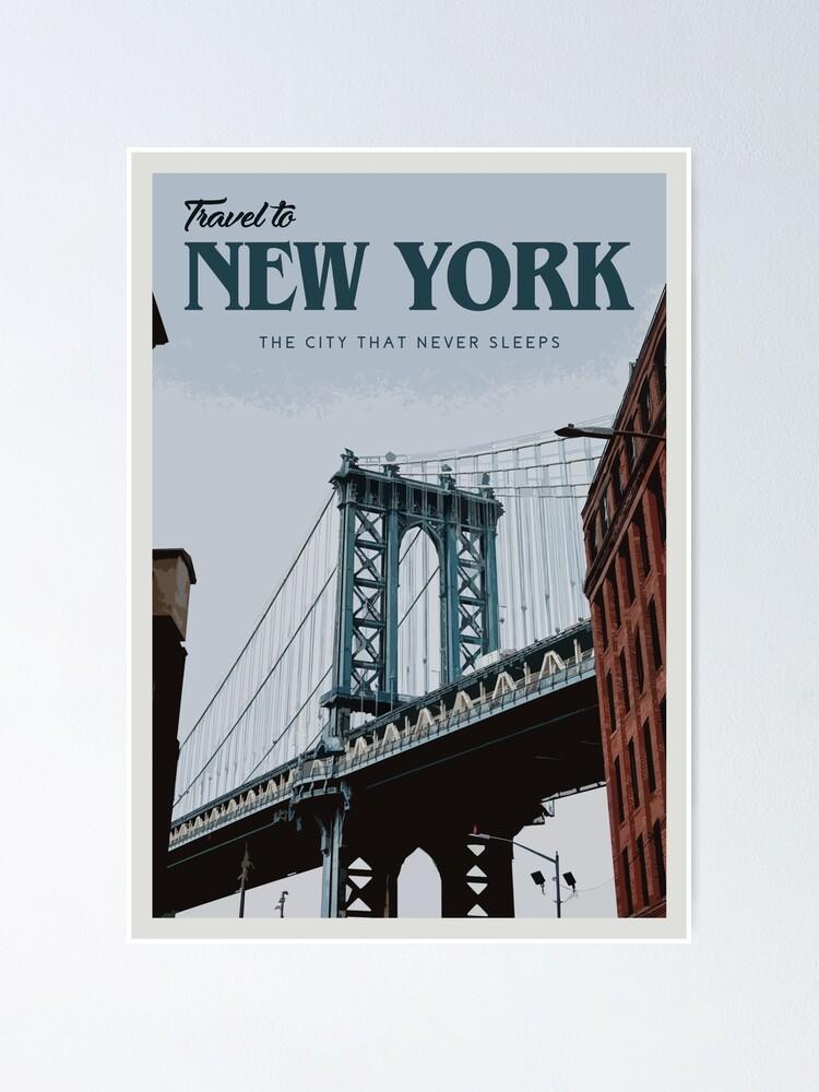 Alternate view of New York Poster