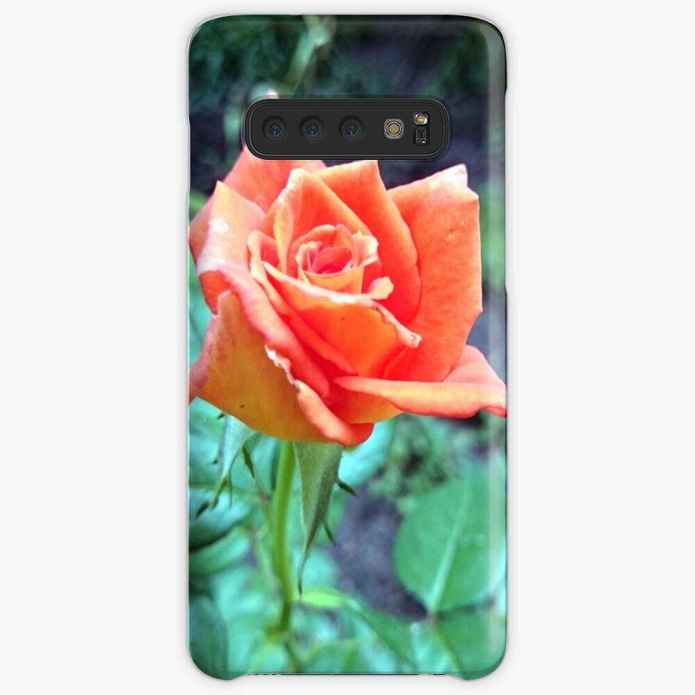 Rose Hülle & Klebefolie für Samsung Galaxy