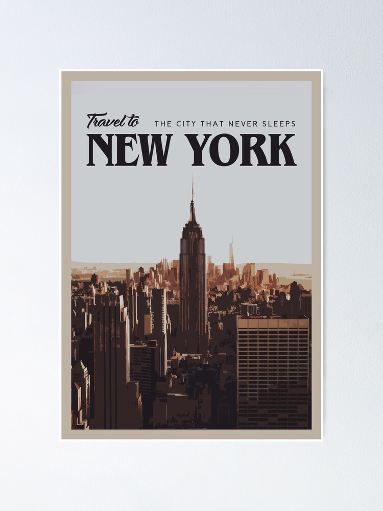 Alternate view of New York Poster