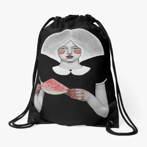 Zora in Black Drawstring Bag