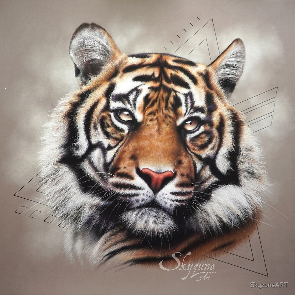 KATECHEO - tiger painting, tiger painting by SkyzuneART