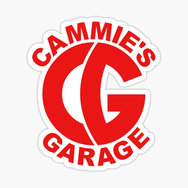Round Logo Red Sticker