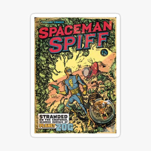 Calvin: The Spiffy Spaceman Sticker