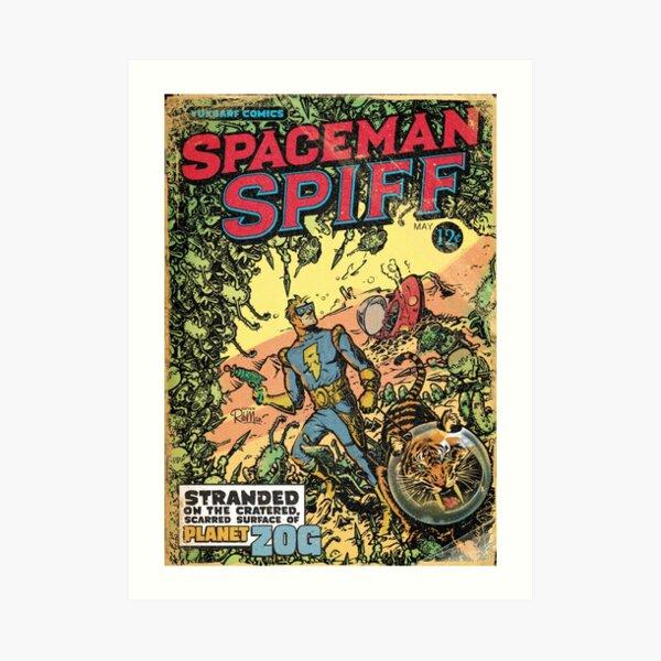 Calvin: The Spiffy Spaceman Art Print