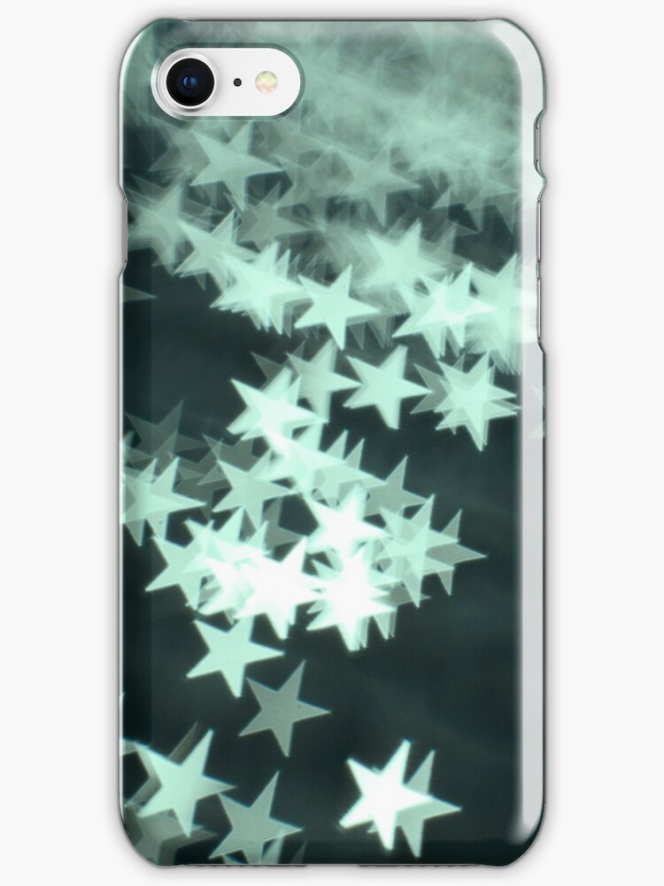 Sea Green Stars - iPhone Cover by Bryan Freeman