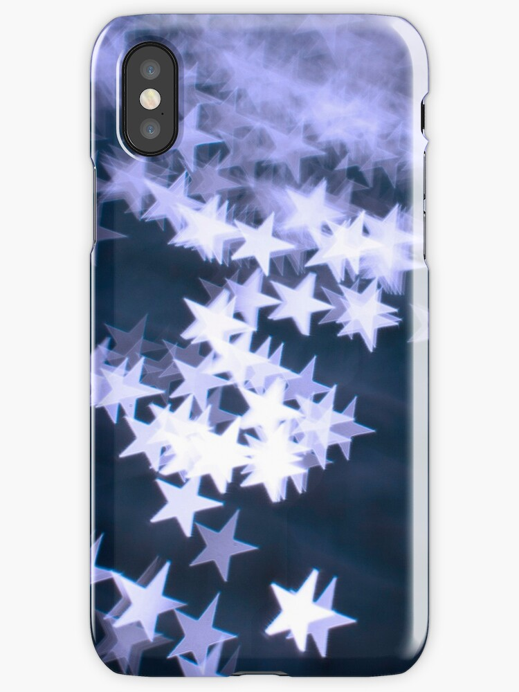 Cool Blue Stars - iPhone Cover by Bryan Freeman