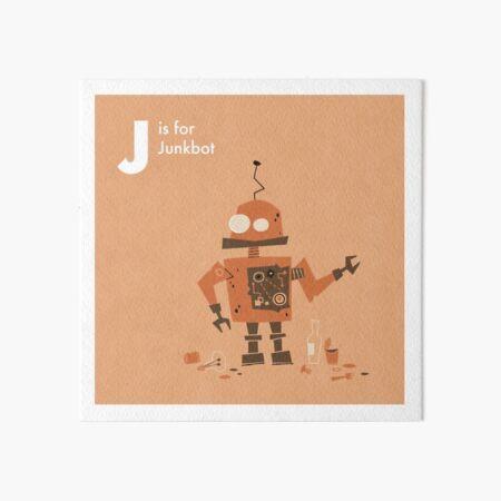 J is for Junkbot Art Board Print